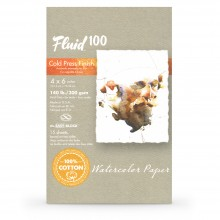 Global : Fluid 100 Easy Block : Watercolour Paper : 300gsm : 4x6in : Cold Pressed