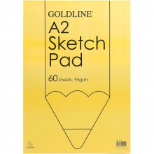 Goldline : Glued Sketch Pad : 95gsm : 420x594mm (A2 42x59.4cm)