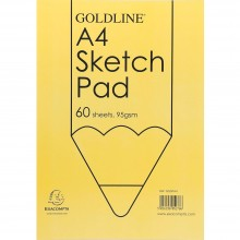 Goldline : Glued Sketch Pad : 95gsm : A4 21x29.7cm