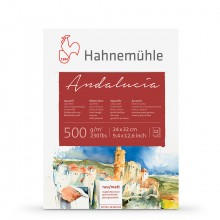 Hahnemuhle : Andalucia block 500gsm : 235lb : 24x32cm : 12 Sheets : Rough/Not