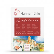 Hahnemuhle : Andalucia block 500gsm : 235lb : 30x40cm : 12 Sheets : Rough/Not
