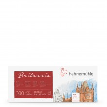 Hahnemuhle : Britannia : Block : 300gsm : 140lb : 20x50cm : 12 Sheets : Not