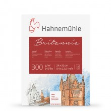 Hahnemuhle : Britannia : Block : 300gsm : 140lb : 24x32cm : 12 Sheets : Rough