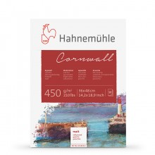 Hahnemuhle : Cornwall : Block : 450gsm : 210lb : 36x48cm : 10 Sheets : Not