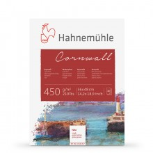 Hahnemuhle : Cornwall : Block : 450gsm : 210lb : 36x48cm : 10 Sheets : Rough