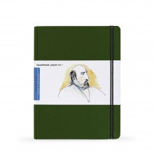 Hand Book Journal Company : Drawing Journal : 10.5x8.25in : Large Portrait : Cadmium Green