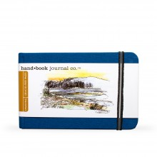Hand Book Journal Company : Drawing Journal : 3.5x5.5in : Landscape : Ultramarine Blue