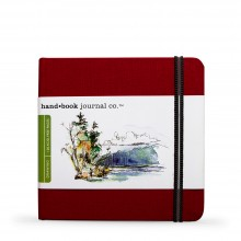 Hand Book Journal Company : Drawing Journal : 5.5x5.5in : Square : Vermilion Red