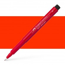 Faber Castell : Pitt Artists Pen : Super Fine : Deep Scarlet Red