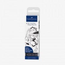 Faber Castell : Pitt Artist Brush Pen : Set of 4 : Manga Black