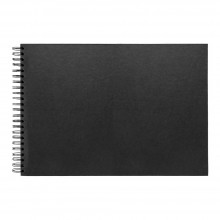 Seawhite : A3 Black Card 220gsm : 40 Sheets : Spiral pad wide spine