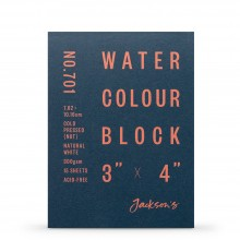 Jackson's : Watercolour Paper : Block : 300gsm : 15 Sheets  : 3x4in : Not