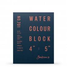 Jackson's : Watercolour Paper : Block : 300gsm : 15 Sheets  : 4x5in : Not