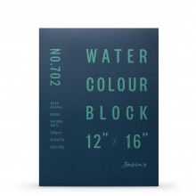 Jackson's : Watercolour Paper : Block : 300gsm : 15 Sheets  : 12x16in : Rough