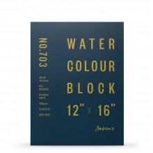 Jackson's : Watercolour Paper : Block : 300gsm : 15 Sheets  : 12x16in : Hot Pressed