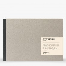 Jackson's : Lay-Flat Hardcover Sketchbook : 100gsm : 72 Sheets : A5 : Grey : Landscape