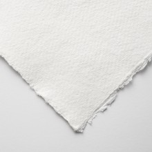 Khadi : White Rag Paper : 150gsm : Medium : 11x15cm : Pack of 20 Sheets
