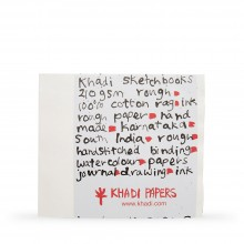 Khadi : Handmade Bound Sketchbook 210gsm : Rough : 30x35cm : 40 Pages