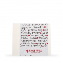Khadi : Handmade Bound Sketchbook 210gsm : Smooth : 21x25cm : 40 Pages