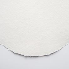 Khadi : White Rag Paper : Round 320gsm : Rough : 30cm diameter : Pack of 20 Sheets