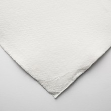Khadi Handmade White Rag Paper 210gsm : Smooth : 56x76cm : 10 Sheets