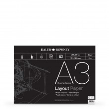 Daler Rowney : Layout Pad : 45gsm : 80 sheets : A3