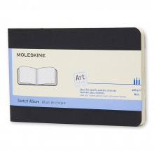 Moleskine : Sketch Album : 120gsm : 9x14cm : 36 Sheets : Black
