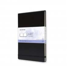 Moleskine : Watercolour Paint : Album : 200gsm : Hard Cover : 60 Pages : A4 : Black
