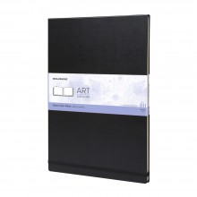 Moleskine : Watercolour Paint : Album : 200gsm : Hard Cover : 60 Pages : A3 : Black