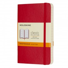 Moleskine : Ruled Notebook : 9x14cm : Hard Cover : 192 pages : Red