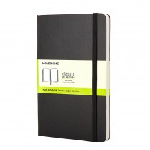 Moleskine : Plain Notebook : 13x21cm : Hard Cover : 240 pages : Black