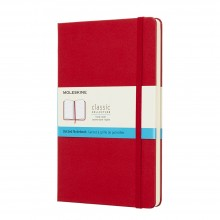 Moleskine : Plain Notebook : 13x21cm : Hard Cover : 240 pages : Red