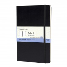 Moleskine : Sketchbook : 165gsm : 13x21cm : Hard Cover : 104 pages : Black