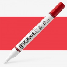 Pebeo : Porcelaine Paint Marker : 20ml : Fine 0.7mm Point : Scarlet Red