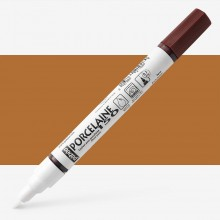 Pebeo : Porcelaine Paint Marker : 20ml : Fine 0.7mm Point : Earth Brown