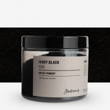 Jackson's : Artist Pigment : Ivory Black PBk9 : 100g (in 200ml Jar)