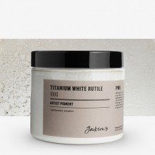 Jackson's : Artist Pigment : Titanium White Rutile PW6 : 100g (in 200ml Jar)