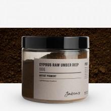 Jackson's : Artist Pigment : Cyprus Raw Umber Deep PBr7 : 100g (in 200ml Jar)