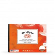 Daler Rowney : Langton : Glued Pad : 140lb : Hot Pressed : 12x9in