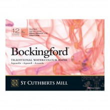 Bockingford : Glued Pad : 10x14in : 300gsm : 12 Sheets : Hot Pressed