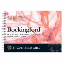 Bockingford : Spiral Pad : 10x14in : 300gsm : 12 Sheets : Hot Pressed