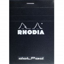 Rhodia : Basics Dot Pad : Black Cover : 85x120mm (8.5x12cm)