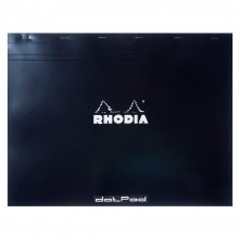 Rhodia : No.38 Basics Dot Pad : Black Cover : 80 Sheets : 31.8x42cm