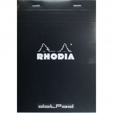 Rhodia : No.16 Basics Dot Pad : Black Cover : 80 Sheets : A5