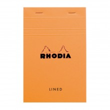Rhodia : Basics Lined Pad : Orange Cover : 80 Sheets : 11x17cm