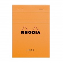 Rhodia : Basics Lined Pad : Orange Cover : 105x148mm (A6 10.5x14.8cm)