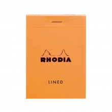 Rhodia : Basics Lined Pad : Orange Cover : 80 Sheets : A7 7.4x10.5cm