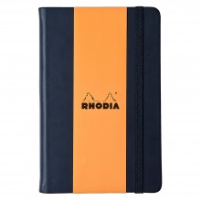 Rhodia : Lined Webnotebook : Black Cover : 96 Sheets : A5