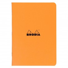 Rhodia : Lined Side Stapled Notebook : Orange Cover : 48 Sheets : A4
