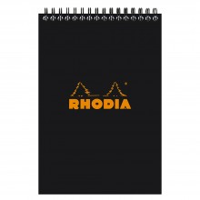 Rhodia : Lined Wirebound Pad : Black Cover : 80 Sheets : A5